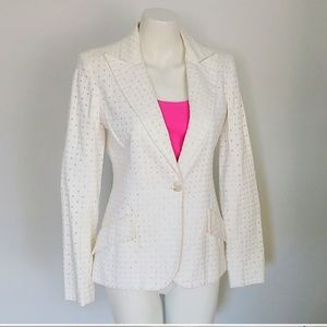 Valentino lilac fitted white Blazer jacket m.